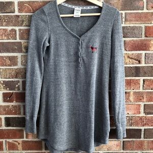 Gray thermal nightgown-XS